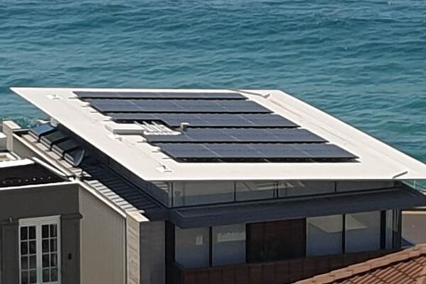 Custom Solar Mounting on Carbon Roof